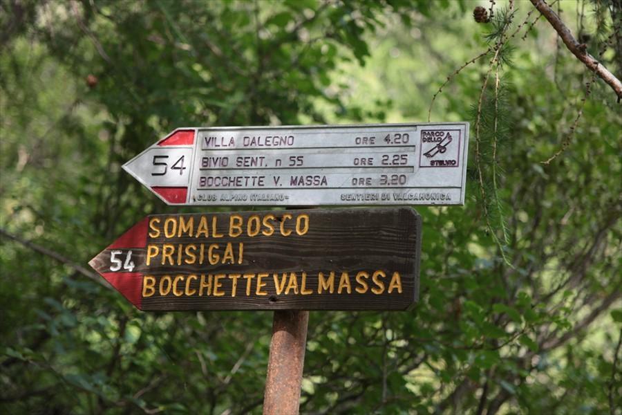 La Bocchetta di Val Massa, depressione situata tra la Cima Bleis di Somalbosco e la dorsale sinistra della Cima Est del Monte Coleazzo...