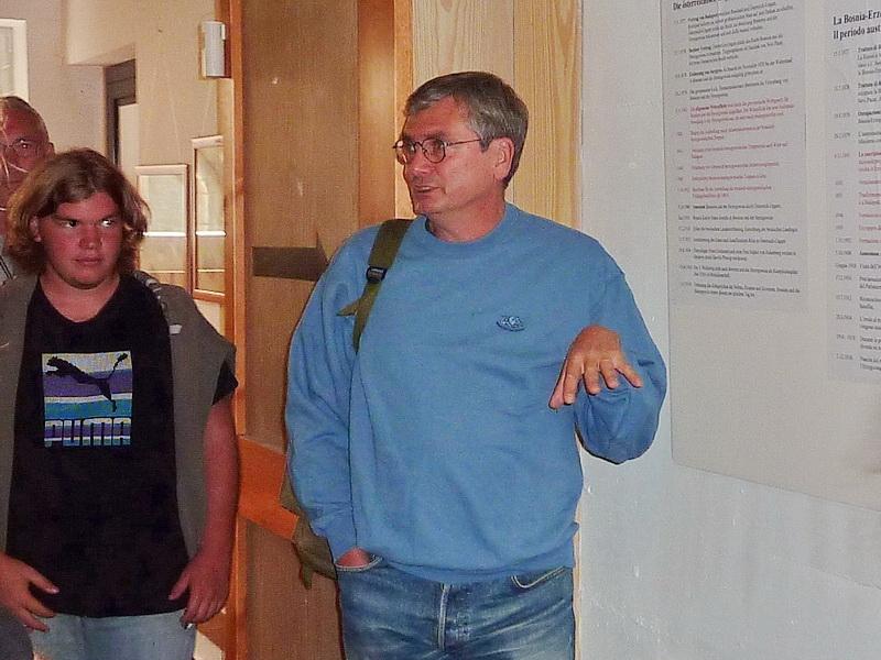 il sig. Roberto Lenardon ci accompagna nella visita...